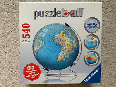 $27 • Buy NEW Ravensburger The Earth 3D Jigsaw Puzzle Ball World Globe 540 Pieces W/Stand