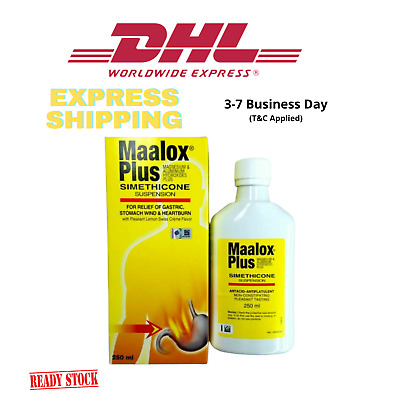 $42.80 • Buy 250ml Maalox Plus SIMETHICONE Suspension For Gastric,Stomach Wind DHL SHIPPING