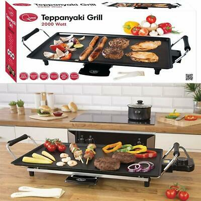 £29.95 • Buy Large Electric Teppanyaki Grill Griddle Hot Plate Steak Cooking Stone NON STICK