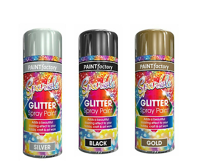 Glitter Spray Paint Sparkling Finish Creative Craft Art In Large Variety  200ml • 4.99£