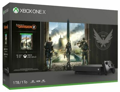$255 • Buy Microsoft Xbox One X 1TB Tom Clancy's The Division 2 Console Bundle -