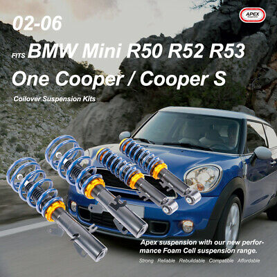 AU390.60 • Buy Fits BMW Mini R50 R52 R53 One Cooper S 02-06 Adjustable Coilover Suspension Kits