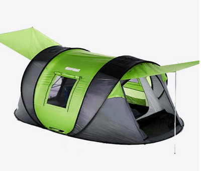 AU320 • Buy Cinch 4 Man 4 Person Ultimate Pop Up Tent + Extra Canopy Ground Sheet Poles CT7