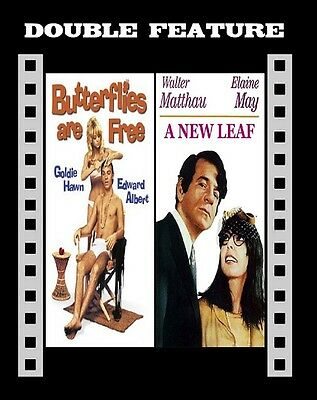 A New Leaf (Walter Matthau)  Butterflies Are Free ( Goldie Hawn ) For R2 NEW DVD • 10.99£