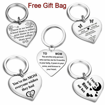 Family Personalised Keyring Christmas Gift Heart Special Mom Sister Friend UK  • 3.99£