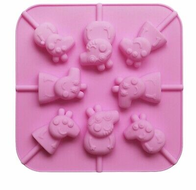 3d Mini Peppa Pig Silicone Mould 8 Shapes On 1 Mould Plus Free Plastic Sticks • 4.99£