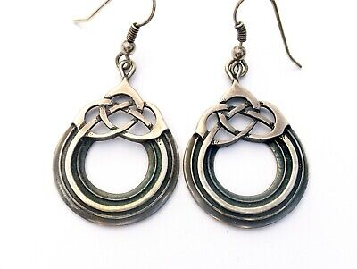 Vintage Sterling Silver Earrings By Ola Gorie Celtic Knot Circle Design Scottish • 84.99£