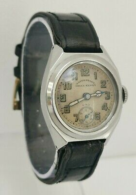 Vtg 1940s UNO Dimier Frere 15J Chrome Cased Military Style Gents Wrist Watch • 195£