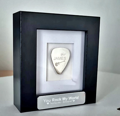 $ CDN29.97 • Buy Personalised Engraved Custom Guitar Pick Plectrum Stainless - Many Gifts Ideas