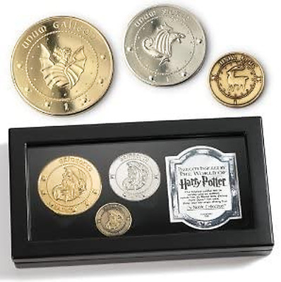 $13.99 • Buy Gringotts Bank Coin Collection Harry Potter Galleon Sickle Knut In Display Box