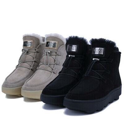 AU69.99 • Buy NOCK UGG Womens Lace Up Sneaker Ankle Hidden Boots Water Resistant Sheepskin