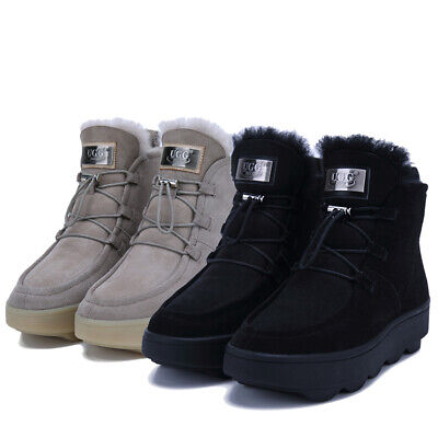 AU69.99 • Buy 【NOCK UGG】Lace Up Sneaker Ankle Hidden Boots Women Water Resistant Sheepskin