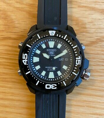 Seiko Frankenmonster PVD On Swiss Rubber Strap • 113£