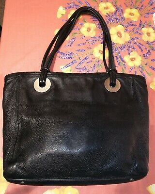 AU35 • Buy Oroton Large Black Essentials Tote Leather Bag, Pre-Owned