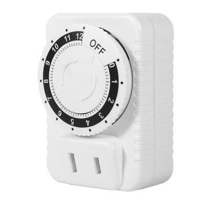 12Hour Electric Mechanical Time Wall Plug Switch Digital Countdown Timer Socket • 4.30£