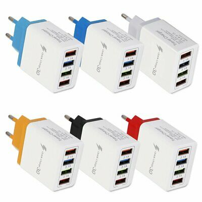 AU8.78 • Buy QC 3.0 Fast Quick Charger 4 Port USB Hub Wall Charger Adapter For Cellphone GN