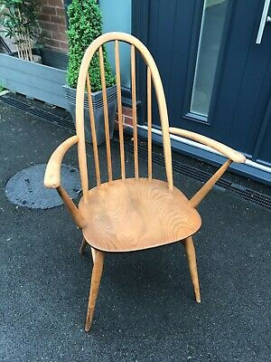 Ercol 60's Dining Windsor Armchair Chair Vintage • 145£