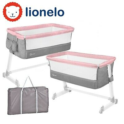 Baby Child Kids Bedside Crib Portable Foldable Travel Cot Theo Lionelo Magnolia • 95.99£