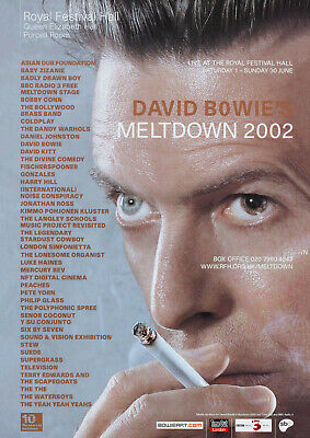 David Bowie - 'Meltdown' Royal Festival Hall 2002 - Music Concert Poster Art • 5.95£