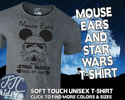 Mouse Ears And Star Wars Cute T-Shirt Adults Disney Inspired T Shirt TOP • 14.99£