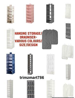 Hanging Wardrobe Clothes Storage Organiser-Various Design/Size/Colours/Type • 15.49£