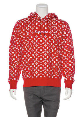 $ CDN13172.19 • Buy Authentic Nwt Lv Supreme Sz S Monogram Box Logo Hoodie