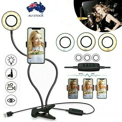 AU16.99 • Buy AU LED Selfie Ring Light With Cell Phone Holder For Live Stream And Makeup