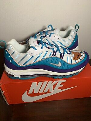 $149.99 • Buy Nike Air Max 98 Hornets Court Purple Teal 640744-500 Size 12 2019