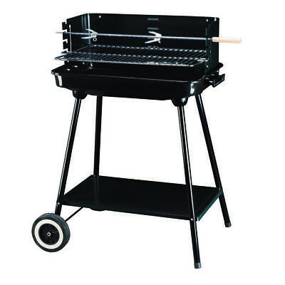 AU45 • Buy Steel Charcoal Bbq Meat Grill Barbeque With Wheels Outdoor Camping