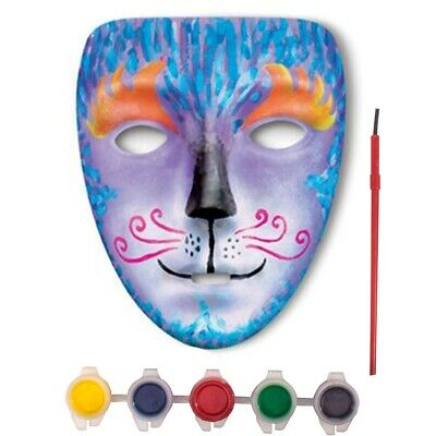 3x PAINT YOUR OWN MASK SETS With Brushes & Paint Kids Rainy Day Craft Activities • 8.06£