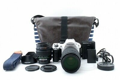 Pentax K-30 White W/ 18-55mm , 55-300mm Twin Lens Kit [Exc From Japan #624742 • 275.37£