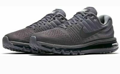 $140.99 • Buy Nike Air Max 2017 Running Shoes Cool Gray Anthracite 849559-008 Men's NEW