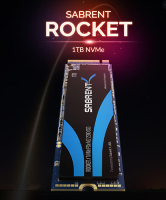 Sabrent 1TB ROCKET NVMe PCIe M.2 2280 Internal High Performance SSD(SBROCKET1TB) • 109.98£