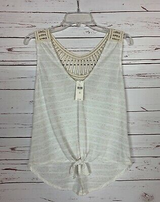 $ CDN36.99 • Buy Pure + Good Anthropologie Womens XS Extra Small Ivory Lace Top Tank NEW TAGS $78