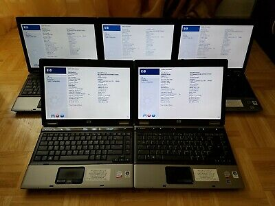 $ CDN373.61 • Buy Lot Of 5 HP Compaq 6530b 14.1 /4GB/C2D/160GB Laptops W/ Batteries [Boot To BIOS]