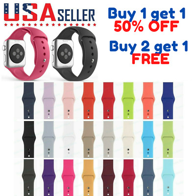$ CDN5.35 • Buy Silicone Band Strap Apple Watch Sports IWatch Series 5/4/3/2/1 - 44/42/40/38mm