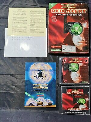 AU49 • Buy Command And Conquer Red Alert Counterstrike PC CD Game + Manuals And Box - GC