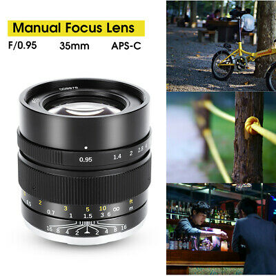 $ CDN633.75 • Buy ZHONGYI 35mm F0.95 Large Aperture Fixed Focal Manual Lens For Sony A6000 A6400