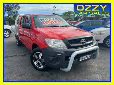 AU12999 • Buy 2008 Toyota Hilux TGN16R 08 Upgrade Workmate Red Manual 5sp M Dual Cab Pick-up