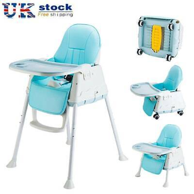 3-in-1 Portable Baby High Chair Infant Child Adjustable Toddler Feeding Seat UK • 45.59£