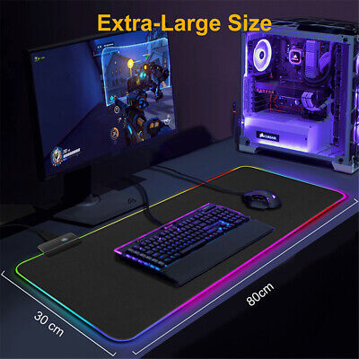 800*300*4 LED UK Gaming Mouse Pad Computer Big Mouse Pad RGB PC Desk Play Mat • 11.74£