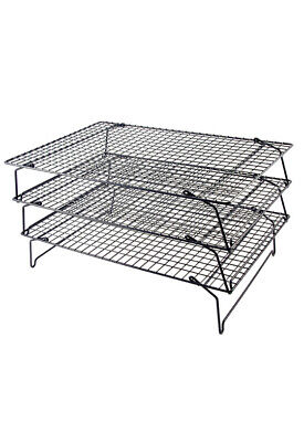 Tala 3 Tier Wire Stackable Non-Stick Cake Biscuit Cooling Tray Rack Stand Baking • 9.99£