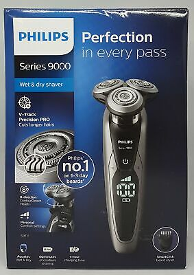 View Details Philips S9711/41 Series 9000 Electric Wet Dry Shaver, Chrome - New Boxed • 212.32£