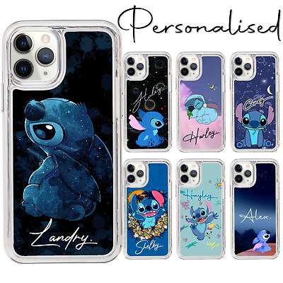 Personalised Text Name Lilo Stitch Hard Case For IPhone 6 7 8 XS XR SE 11 12 Pro • 6.99£