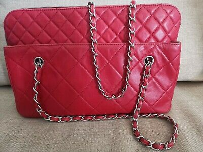 AU2500 • Buy Authentic Chanel Red Lambskin Shoulder Bag
