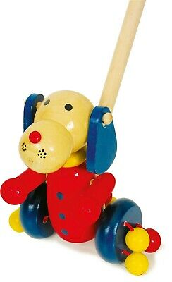 Small Foot Push-along Push Along Animal Dog 7209 Childrens Wooden Toddler Toy • 12.99£