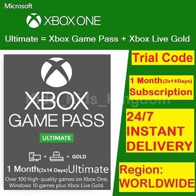 $ CDN4.33 • Buy Xbox Live 1 Month Gold & Game Pass Ultimate (2 X 14 Day Pass) - INSTANT DELIVERY
