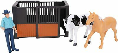 Horse Toy Playset - 12cm X 10cm, Figure & Accessories - BT170-STABLE  • 9.99£