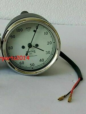 $20.40 • Buy Smiths Tachometer 80 Mm Fitment M12x1.5 Thread Replica White Face