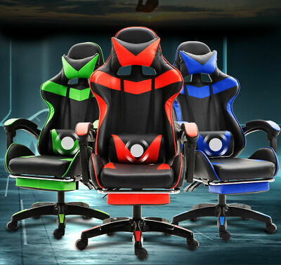 AU149.95 • Buy MSQ Gaming Chair Office Computer Seating Racing PU Leather Executive Neck&Lumber
